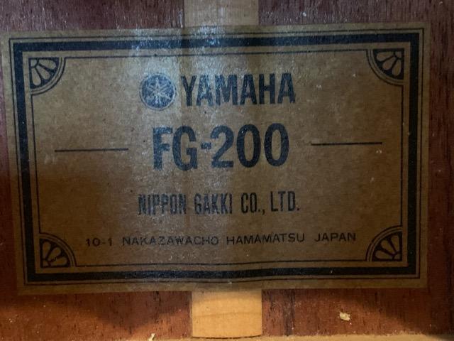 YAMAHA FG-200 グリーンラベル