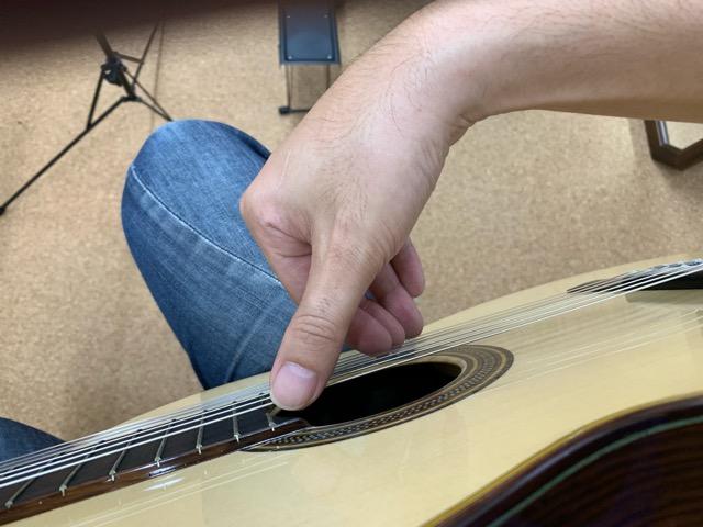 クラシックギターの右手