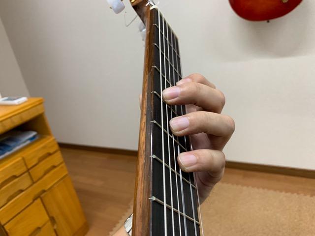 クラシックギター左手